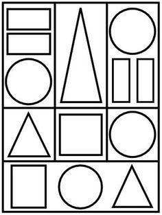 G om trie en maternelle les figures g om triques thema - Coloriage des formes geometriques ...