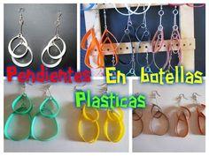 *Aretes reciclados de aros de plastico y crochet* - YouTube