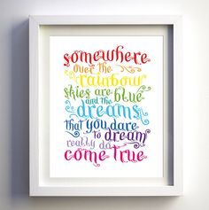 """I like the idea of using the frame """"the dreams that you dare to dream really do come true"""""""