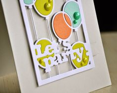 Simply Stamped: Text Block: Party Time die and Party Trio dies