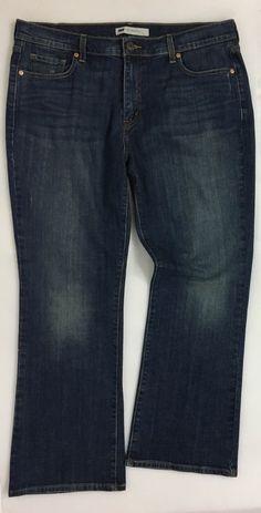 Womens LEVI'S 515 Boot Cut Jeans / Distressed Stretch Cotton Denim Pants 16 S/C #Levis #BootCut