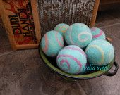 Ovella Wool Dryer Balls: The Doces Swirl Collection - set of 6 six unscented, colorful, teal, pink, green, purple, orange, sheep, reusable - pinned by pin4etsy.com
