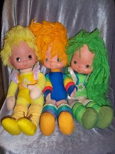Vintage 1983 Rainbow Brite Plush Doll Lot Canary Yellow Patty O'Green