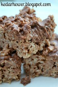 Kristin's kNook -a blog of food & thought: Brownie Batter Rice Krispy Treats