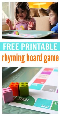 Rhyming Board Game – FREE Printable (No Time for Flash Cards)