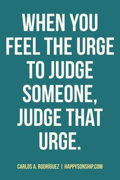 #JudgeNot