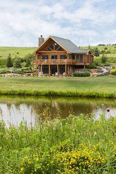 Log Home Photos | Prairie Song Home Tour › Expedition Log Homes, LLC
