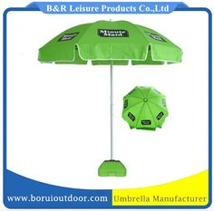 Arc 220cm strong parasol for promotion green fabric metal pole_sun umbrellas_parasols for promotion