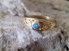 SALE Blue Opal Ring Blue Opals Ring Opal by CandySimpleJewelry