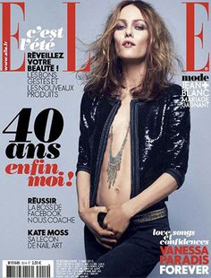 ELLE Vanessa Paradis Cover  Featured: Small Fringe Necklace