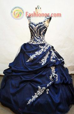 Popular ball gown sweetheart-neck floor-length navy blue taffeta appliques with beading quinceanera dress FA-X-003,Quinceanera Dresses, Quinceanera Gowns, Sweet 16 Dresses, Ball Gowns