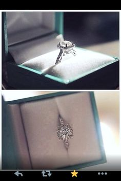 Tiffany engagement ring... it just might have to do with my name, but I love Tiffany engagement rings!