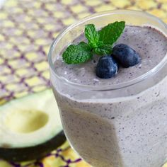 "Avocado Blueberry Smoothie I ""Great recipe! The avocado adds a great creamy texture without too strong of a flavor."""