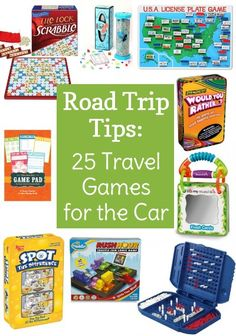 "25 Travel Games for the Car – Avoid backseat fighting and complaining of ""I'm bored"" while on your next road trip. Pick up some of these fun travel games for the car to keep the kids (and adults) entertained. Kids Travel Activities, Road Trip Activities, Road Trip Games, Outdoor Activities, Road Trip With Kids, Family Road Trips, Travel With Kids, Toddler Travel, Family Vacations"