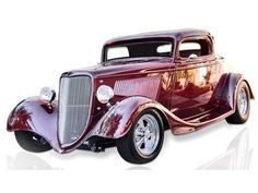 1934 Ford 3 Window 2-door 3-Window Coupe (TX) - $42,500 3600 miles 400 CID small block Chevy V-8 Exterior Color: Lincoln Continental metallic toreador (red) Interior Color: Saddle Tan leather inte