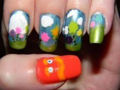 Mega Nailattude: My entry to Chalkboard Nails nail art contest!