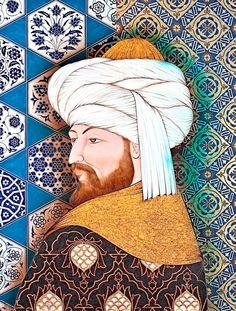 Fatih Sultan Mehmet (2013) by Ottoman miniaturist Taner Alakuş