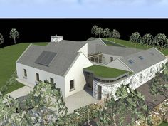 Dolla 2006 by Darragh Quinn Architects Cottage Style House Plans, Rural House, Cottage Ideas, Bungalow Renovation, Farmhouse Renovation, Garage Renovation, House Layout Plans, House Layouts, House Designs Ireland