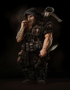 Male Dwarf Archer Crossbow Dagger Leather Armor Assassin Cleric Fighter Ranger Rogue - Pathfinder PFRPG DND D&D fantasy Fantasy Dwarf, Fantasy Male, Fantasy Warrior, Fantasy Rpg, Medieval Fantasy, Fantasy Artwork, Dark Warrior, Fantasy Character Design, Character Concept