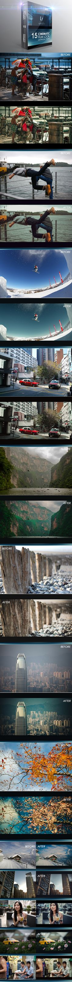 15 Cinematic Film Look Lightroom Presets. Download here: http://graphicriver.net/item/15-cinematic-film-look-lightroom-presets/8132499?ref=ksioks