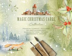 """Check out new work on my @Behance portfolio: """"Magic Winter Watercolors"""" http://be.net/gallery/58863963/Magic-Winter-Watercolors"""
