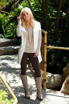 Leggings, White Sweater