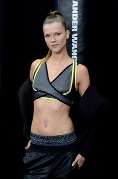 Kasia Struss at the Alexander Wang X H&M Launch Sport Fashion, Fitness Fashion, Alexander Wang, Sport Editorial, Sports Bra Top, Athleisure Wear, Pretty Lingerie, Gym Wear, Sport Outfits