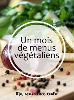 a month of vegan menus my green conscience - Quick and Easy Recipes Menu Vegan, Vegan Vegetarian, Vegetarian Recipes, Healthy Recipes, Vegan Keto, Healthy Drinks, Diet Recipes, Healthy Food, Go Veggie