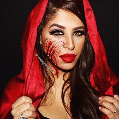 Little Red Riding Hood/ Halloween2015 ____________________________________ ▪️Lashes : NYC 3D mink lashes @lillyghalichi @lillylashes @lillyghalichi ▪️Mascara : Roller Lash @benefitcosmetics ▪️Brows : dipbrow pomade medium brown @anastasiabeverlyhills ▪️Liner : Little Black Dress @motivescosmetics ____________________________________ #HoudaMakeup #houdalynemakeup #kyliecosmetics #lillylashes #lillyghalichi #anastasiabeverlyhills #hudabeauty #shophudabeauty #vegas_nay #motivescosmetics #...