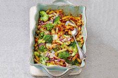Snelle ovenpasta met broccoli en spekreepjes - Recept - Allerhande