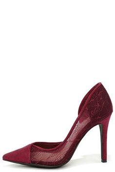 Jessica Simpson Cavilla - Red Heels - Lace Pumps - D'Orsay Pumps - $85.00