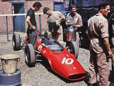 Paddock 1963 Ferrari Oulton Park