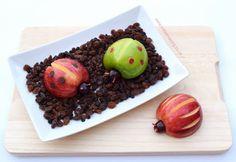 Fun and Healthy Apple Bugs Snack Tutorial Recipe on Yummly. @yummly #recipe