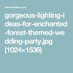 gorgeous-lighting-ideas-for-enchanted-forest-themed-wedding-party.jpg (1024×1536)