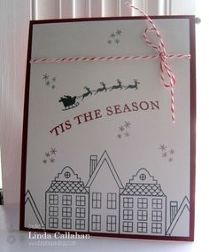 Monday, November 17, 2014 Stampin' Seasons: High Flying - CAS(E) this Sketch Holiday Home