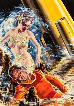 Virgil Finlay Art | 1956 ... reach for the stars! | Flickr - Photo Sharing! - Virgil ...