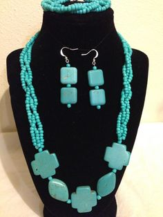 A personal favorite from my Etsy shop https://www.etsy.com/listing/228113303/necklace-set