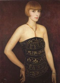 Portrait of a Lady by Imre Goth, 1929