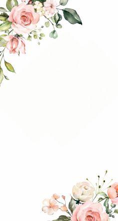 Framed Wallpaper, Flower Background Wallpaper, Flower Phone Wallpaper, Flower Backgrounds, Flower Pattern Drawing, Floral Drawing, Flower Patterns, Wedding Invitation Background, Floral Wedding Invitations