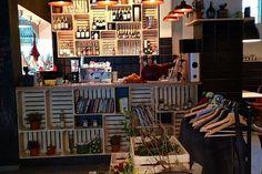 Great vine crates bar design