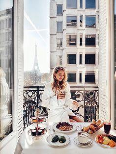 Breakfast at Plaza Athénée, Paris
