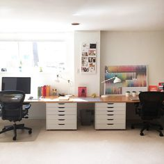Photo of the Week: His and Hers Office Space | Dwell
