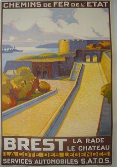 H Lautrou: Brest, La Côte des Légendes. #essenzadiriviera.com