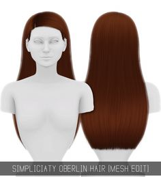 OBERLIN HAIR MESH EDIT at Simpliciaty • Sims 4 Updates