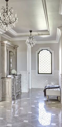 Master Bathroom Ideas Decor Luxury is definitely important for your home. Whether you pick the Luxury Bathroom Master Baths Paint Colors or Luxury Bathroom Master Baths Beautiful, you will make the best Luxury Master Bathroom Ideas for your own life. Luxury Master Bathrooms, Modern Master Bathroom, Dream Bathrooms, Beautiful Bathrooms, Master Baths, Minimal Bathroom, Tile Bathrooms, Small Bathroom, French Bathroom