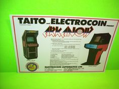 Taito CONTINENTAL COriginal NOS 1986 Video Arcade Game Flyer Electrocoin Rare UK #Electrocoin #Taito #Arkanoid #ArcadeGameFlyer
