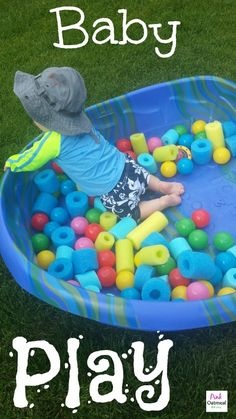 Baby Play Ideas!  A lot of different ideas on how to play with baby!  I love that a lot the ideas are practical for babies and that they don't take a ton of time to set up! The ideas come from a pediatric PT too!