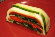 FRESH GARDEN VEGETABLE TERRINE with Goat Cheese (or Ricotta) Recipe /veg...