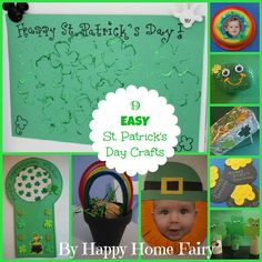 Spend the day getting crafty with the kids! Find 9 easy St. Patrick's Day crafts here. #StPatricksDay #FamilyFun #Crafts