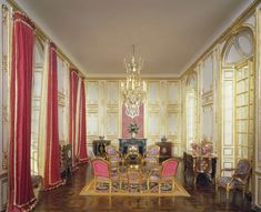 Louis XV Salon FontainebleauIn 1527 Francois I transformed the Chateau de Fontainebleau into a palatial residence. Successive monarchs up to Napoleon III remodelled and added to the original rooms. Mulvany and Rogers have accurately created the room in miniature. It houses several of Hillman's miniatures including the c.1730 commode by Baumbauer as well Charles Topino's table de salon. Hillman's version of Martin Carlin's petit coffre a bijoux (jewellery box) is inset with Sevres-style ...